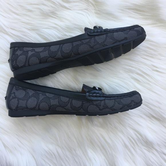 0f36604ac64 Coach Shoes - Coach black smoke signature logo loafers size 7
